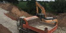 Diggers at Middlewich breach