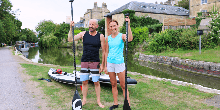 Paddle boarding on the Kennet & Avon Canal