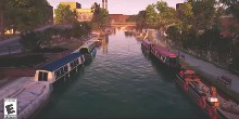 Image of the Grand Union Canal on Fishing Simulator game
