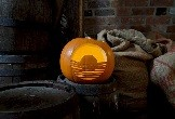 Canal and River Trust pumpkin carved in the museum