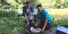 Amar and Josh, Three Locks, Let's Fish 2018