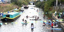 Paddle boarding Hayes Canal Festival, credit Jane Russell
