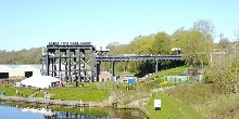 Side view of the great Anderton Boat Lift