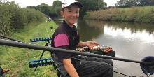 Billy lands another Shropshire Union Canal roach