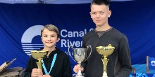 Ben Keeling and my brother, Cameron Pitman, junior pairs winners 2019