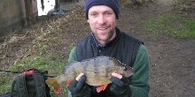 Nick Baggaley with perch