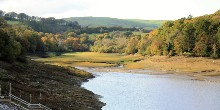 Toddbrook Reservoir (drained) autumn colours