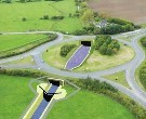 Illustration of planned work at A38/A419 roundabout for Cotswold Canals Connected project (courtesy of Cotswold Canals Trust)