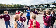 School visit to Tees Barrage