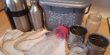 Home recycling facilities and alternatives to single-use plastic