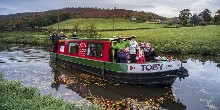 A trip at Farnhill on the Leeds & Liverpool Canal