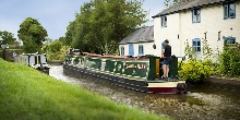 Two standard 7-foot narrowboats on the Montgomery Canal