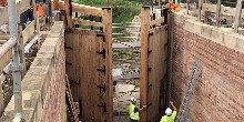 New lock gates for Lock 14 on the Grantham Canal