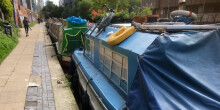 Moored boats on London's waterways