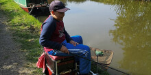 Alex at his peg in the junior, cadet and youth canal angling championships 2020