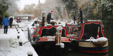 A wintery canal scene