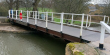 Picture of a swing bridge