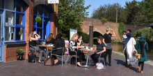 Eating and drinking in Coventry Canal Basin