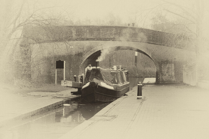A Look into the Past (Autherley Junction), Shropshire Union Canal by Bob Thomas