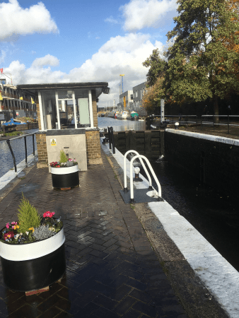Old Ford Lock in bloom, Lee Navigation by Lee Rowland