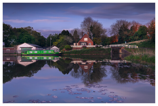 Blue Hour at Caen Hill Locks by Andy Stevens