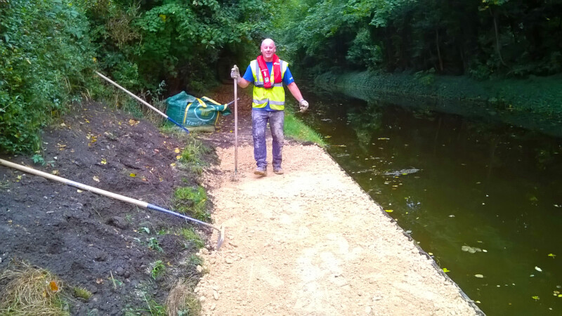 Towpath resurfacing, Retford, Chesterfield Canal by Marcus Hill-jones