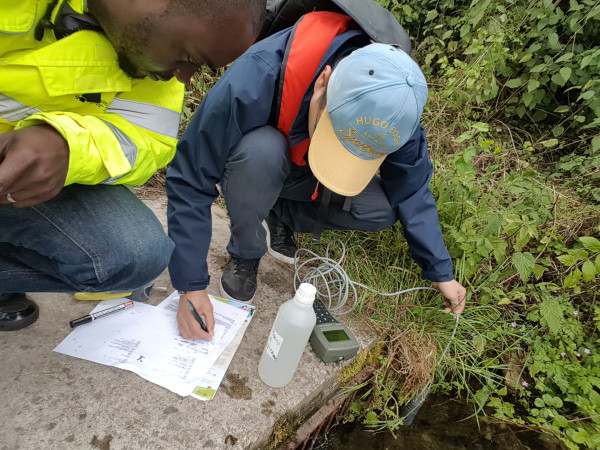 Water Quality Filed work with Cranfield University Student. by Philip Kyeremanteng