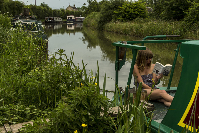 Lazy Sunday Afternoon, Kennet & Avon - Semington by Pip Rabbitts