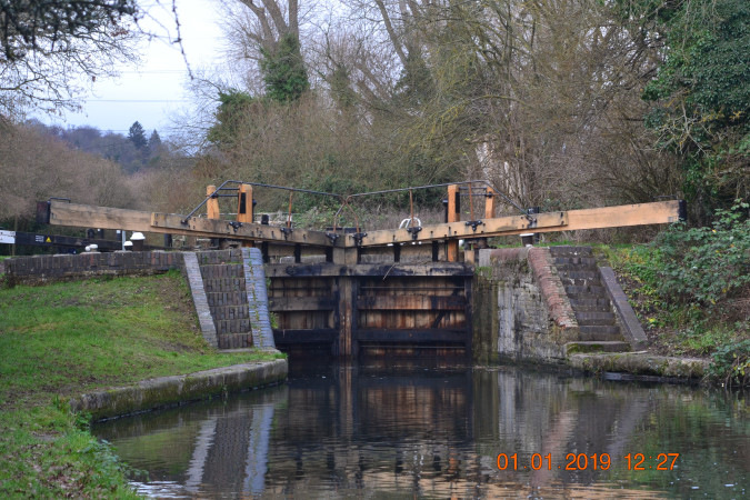 New lockgates on Grand union canal, Grand Union Canal by Dennis Boast