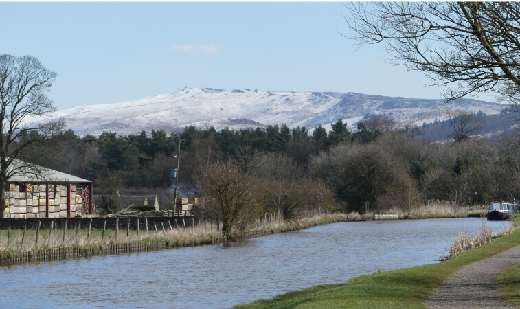 Snowy Hills, Bank Newton, Leeds and Liverpool by Janet Ellison