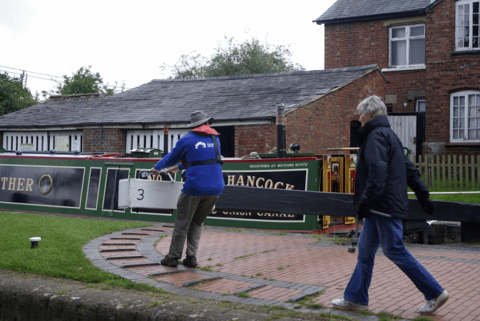 VLK Tony Closing The Head Gate, Hillmorton Locks (The busiest flight in the country) North Oxford Canal by Kevin Marriott