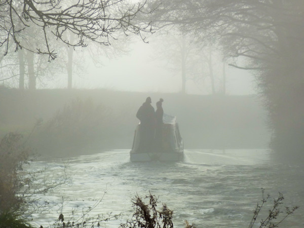 Foggy December morning on the Grand Union Canal., Leicester line. Northamptonshire. by Matthew Deer