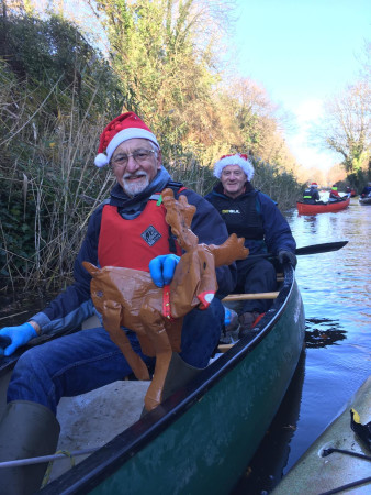 Even Rudolf found his way to the B&T , Bridgwater & Taunton Canal by Dan Perry