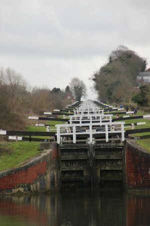 Caen Hill Flight, Kennet & Avon Canal by Sarah Newman