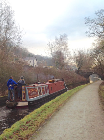 #canalRiverTrustComp winter walk down the Llangollen canal by Sandra Beswick