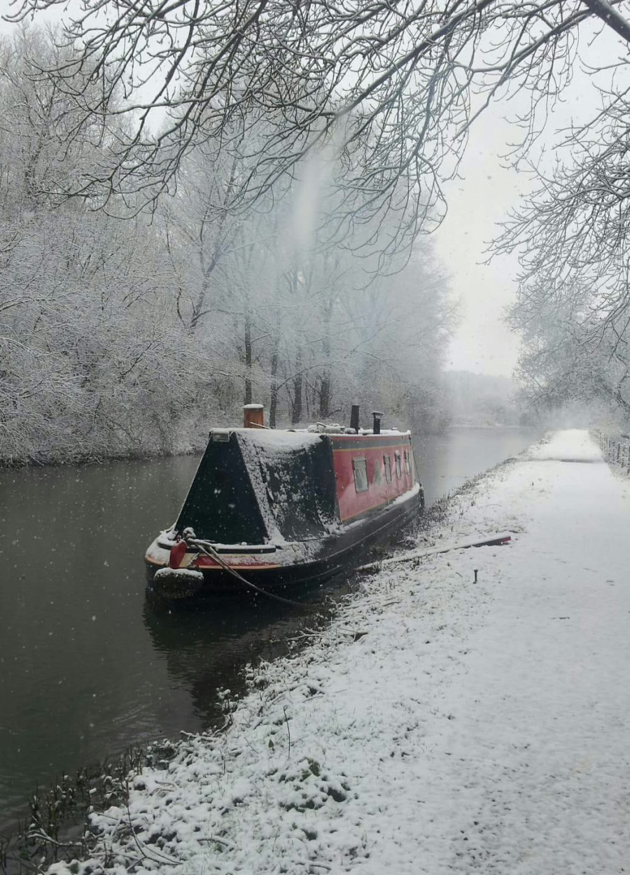 Snow covered Yaffle, Marsh Benham by Rita Jarvis