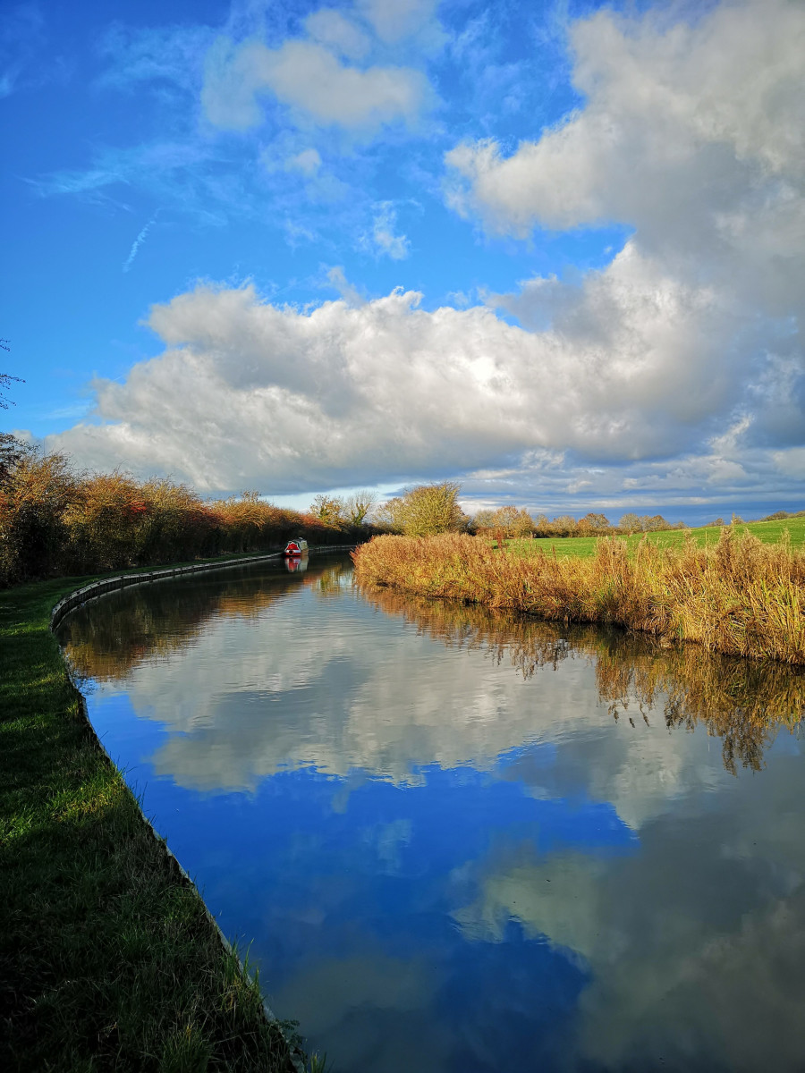 Pea Green at Bridge 36, Grand Union Canal by Kay Andrews