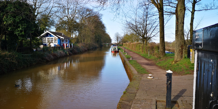 Spring morning at Red Bull Wharf, Trent & Mersey Canal by Michael Broadbent