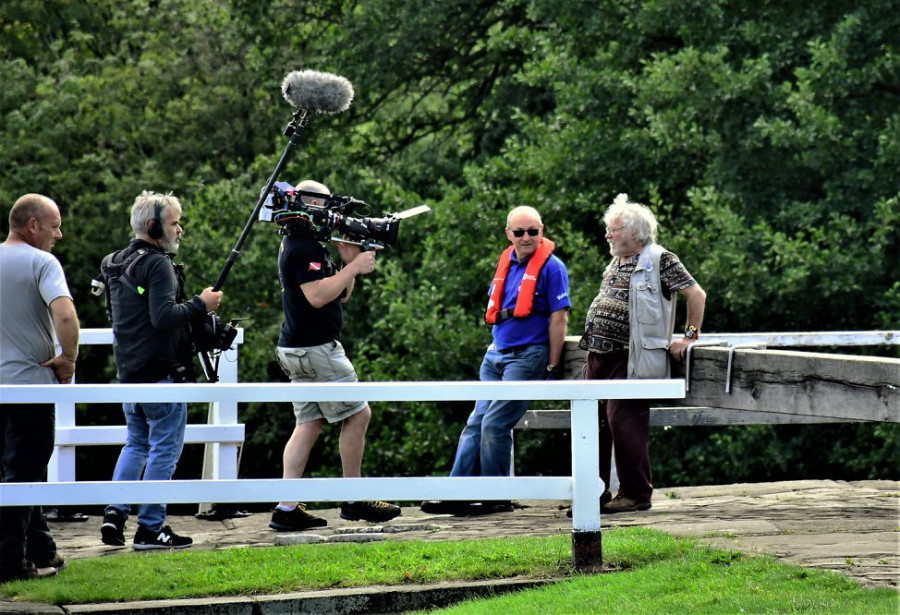 Celebs go boating, Leeds & Liverpool Canal by Brian Muir