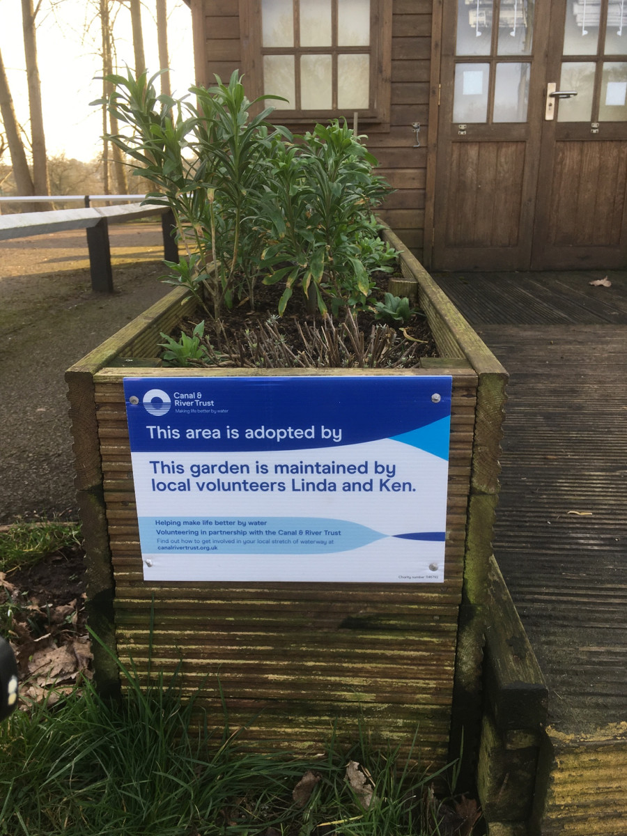 New signs for our gardens at Hatton , Grand Union Canal by Kenneth Wheeler