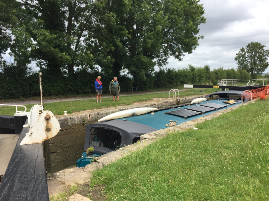 Lock 21 Seend flight first day back VLKing after lockdown , Kennet & Avon Canal by Chris Carr