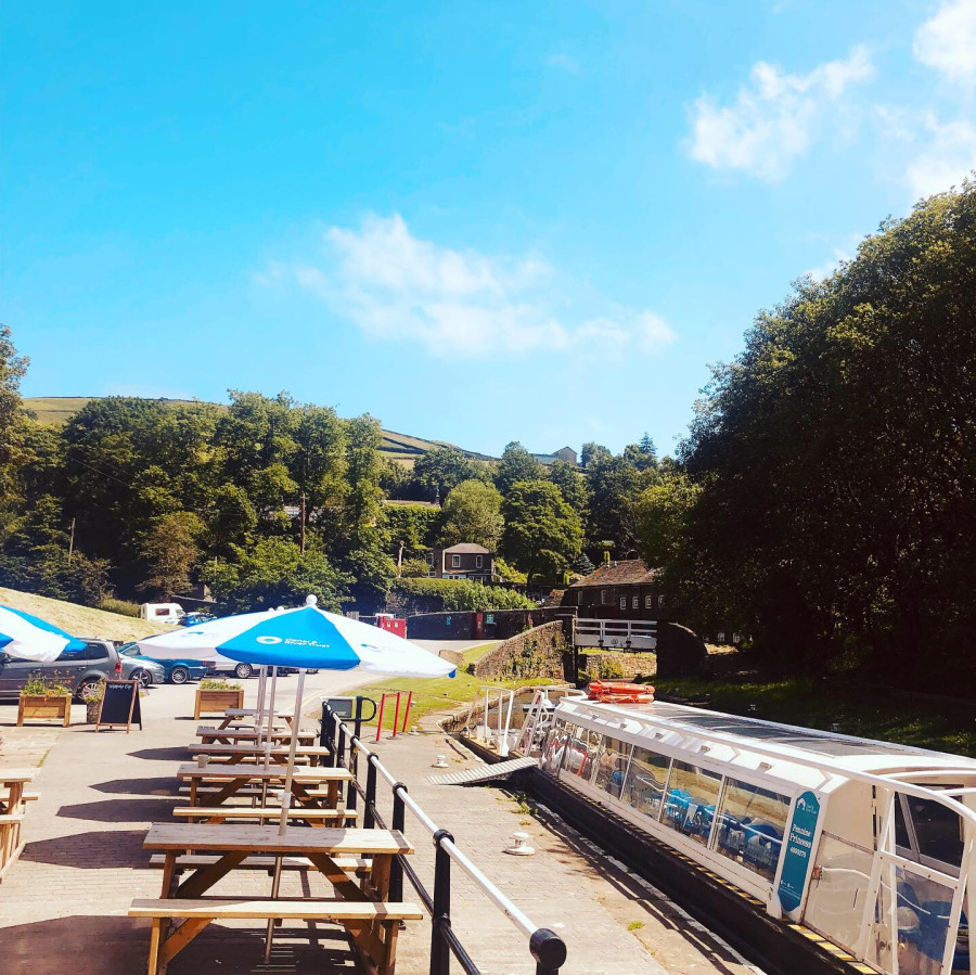 Watersedge Cafe at Standedge Tunnel, Huddersfield Narrow Canal by Luke Clarke